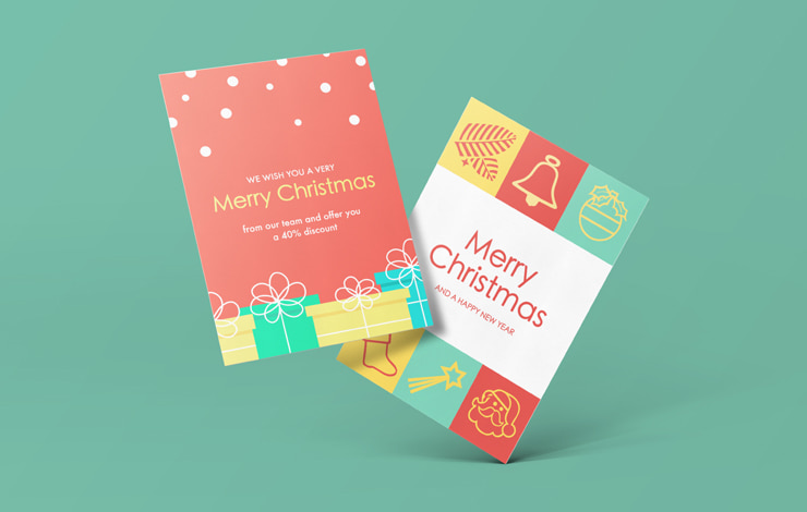 Christmas flyer designed in Swift Publisher for Mac