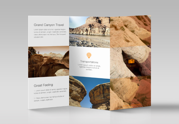 Tri fold brochure made in Swift Publisher
