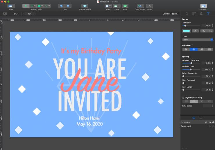 Mac software for invitation design