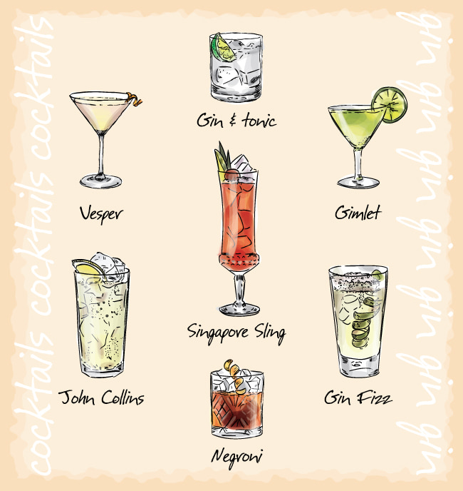 Beautiful cocktail menu