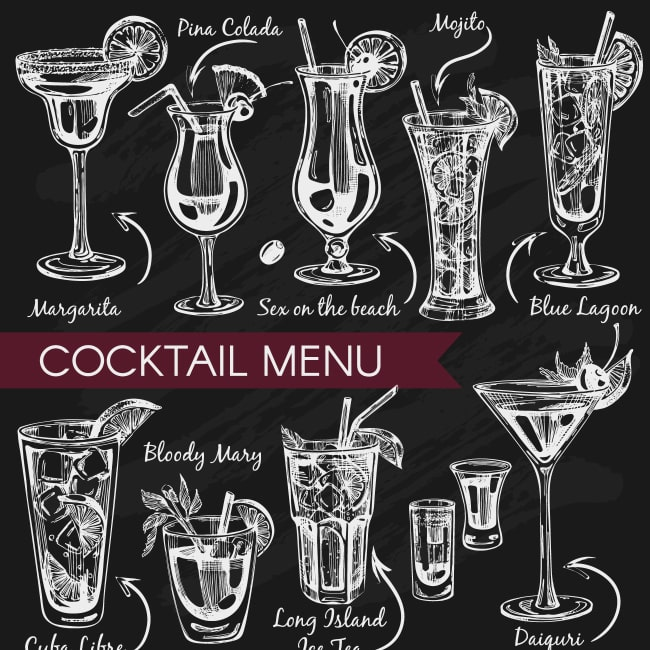 Cocktail menu for your restaurant